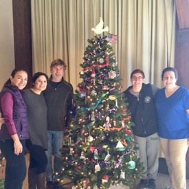 Thank you to our volunteers for bringing your positive energy and spirit to creating our tree!  Thank you Sima Guven, Catherine Santaiti, Matt Steffens, Lex D'Andrea and Nancy D'Andrea.  Thank you also to Eric Russell and Gail Rapaport (not shown).