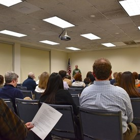 BTDC member, Bill DeLorenzo, presents Research & Issues for discussion.  Photo Credit: Betsy Bacot-Aigner