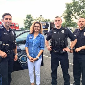 Sophia chatted with some of our own's finest! Bernards Township Police Department