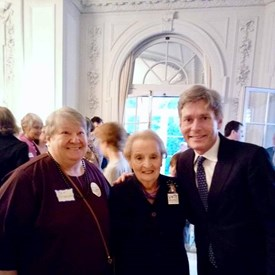 BTDC Committee Person Pat Sodolak with Madeleine Albright and Tom Malinowski for Congress.