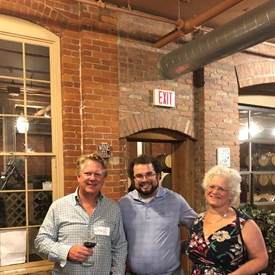 BTDC Vice Chair Gregory Begg with Jacob Caplan and BTDC representative Susan Goldsmith.