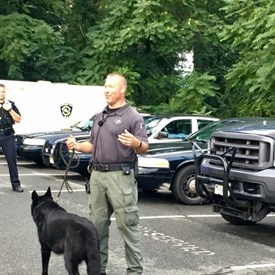 Demonstration of the K-9 unit and how the dogs can sniff out drugs. The dog found the drugs in under 10 seconds. Again, very impressive.