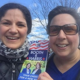 Catherine & Nancy campaigning for Booth & Harris!
