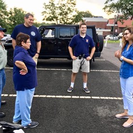 Sophia Chadda for Bernards Township Committee talking with volunteers from the Liberty Corner Fire Company. Thank you!