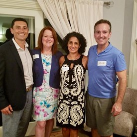 Robert Mascia & Joan Harris for Bernards Township Committee with hosts of this wonderful evening, Parisa Hakimzadeh and Mike Alvarez.