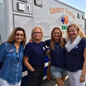 Liberty Corner EMS with some Bernards Township Democratic Committee members and Sophia Chadda. Learned about the history of this specific EMS group and how it was women only for awhile. Very interesting!