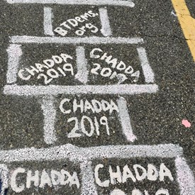 Just part of the squares the Chadda campaign and the Bernards Township Democratic Committee purchased to help with funding research for lung cancer.
