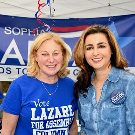 Sophia Chadda for Bernards Township Committee with Jill LaZare for Assembly 21.