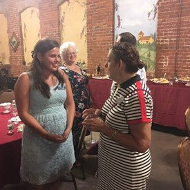 Sara Sooy for Somerset County Freeholder talking with Susan.