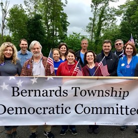 BTDC members and supporters gather at the beginning of the parade - Joe D'Andrea, Suzanne Ring Glassman, Jason Karl, Jane Edelman Conklin, Ana Alonso, Debbie Schweich Cortigiani, Bill DeLorenzo, Lisa Bahler, Marco Cortigiani and Fred Douglis.