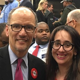 DNC Chair, Tom Perez and I