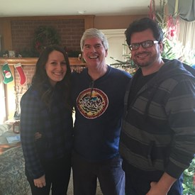 With Katie and Brian at Christmas