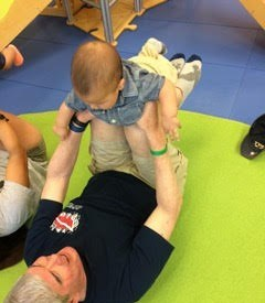 Playing with Jacob at Gymboree