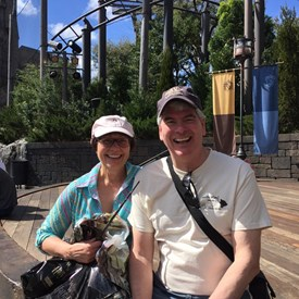 With Karen at Harry Potter World