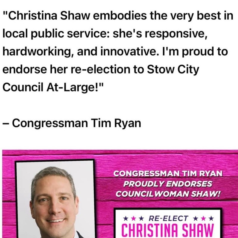 Congressman Tim Ryan currently represents the 13th District of Ohio in the U.S. House of Representatives and is now running for the U.S. Senate seat to represent Ohio that will be vacated by Rob Portman.