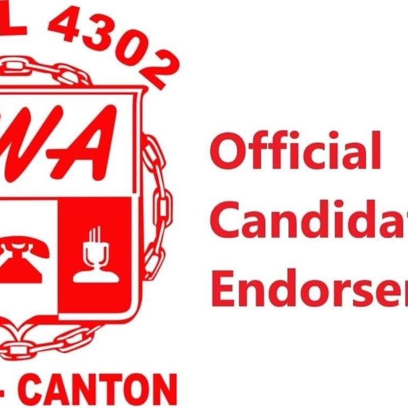 Communications Workers of America (CWA) Local 4302 Akron-Canton endorsed candidate