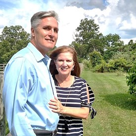Surrounded by small farms and State Game Lands, George and Donna enjoy the rural setting of their home in Dillsburg.