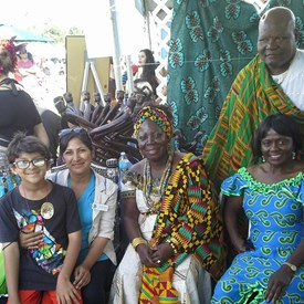 Visiting the Ghana Booth at the Irvine Global Village Festival