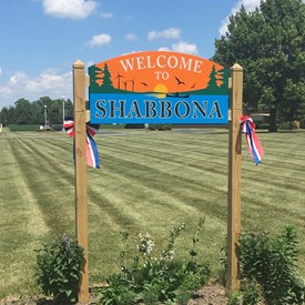 Hometown sign Shabbona Il