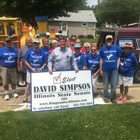 Ogle county Democrats at Mt. Morris  Let Freedom Ring Parade