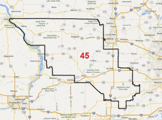 The entire 45th District