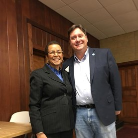 At Ogle County Democrats meeting tonight (2/6/18) brushed with greatness! Delmarie Cobb, Veteran Media and Political Consultant to the DNC and Hillary!