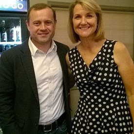 On Thursday, August 24, 2017 at the Blue Mountain Brewery in Afton, former Congressman Tom Perriello, who carried Nelson County in his bid for the Democratic Nomination for governor in June, headlined a fundraiser for Michele Edwards, candidate for the General Assembly in the 20th District.