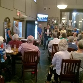 Audience at the August 24 fund raiser