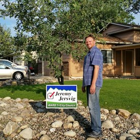 The first yard sign was planted!