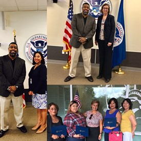 Dr. Fizer at U.S. Citizenship and Immigration Services Open House..