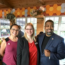 Fizer with RoadWOMEN'S Kat Clemons, and State Rep. Candidate, TX-28, Mehgan Scoggins