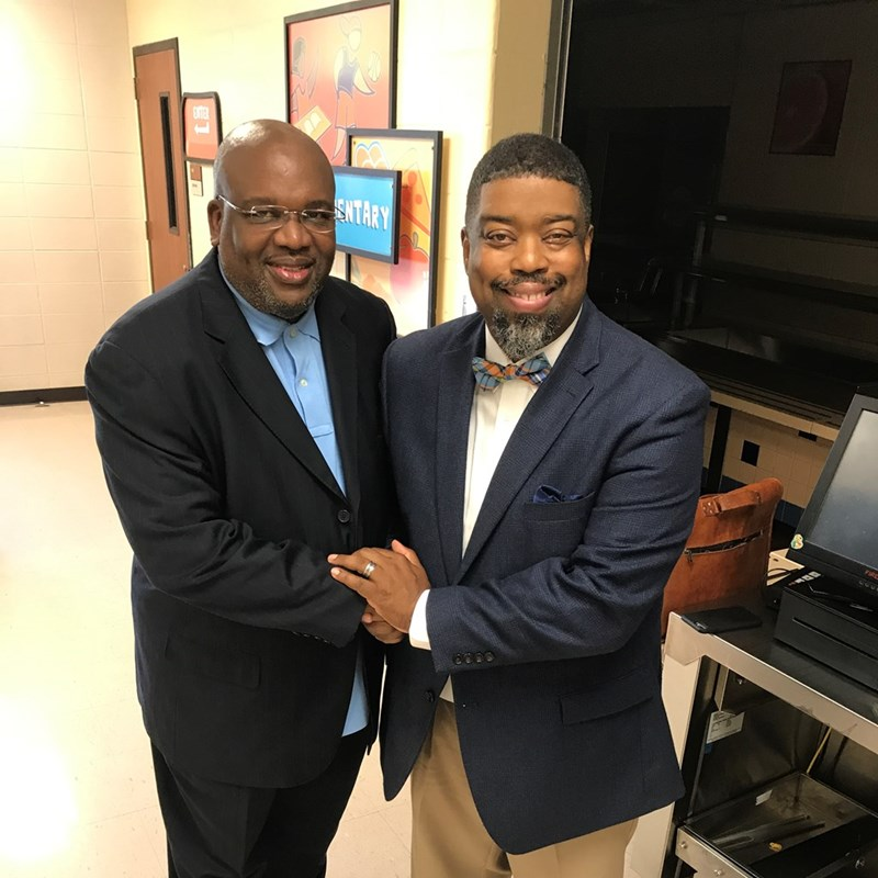 Dr. Undrai F. Fizer and Pastor Michael Jones @Cathedral of Faith Church. Fizer