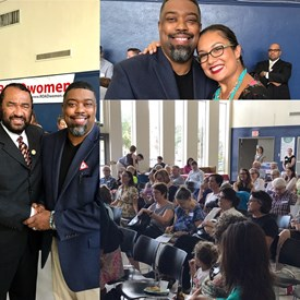 Dr. Fizer with Congressman Al Green, at ROADwomen Civic Meeting