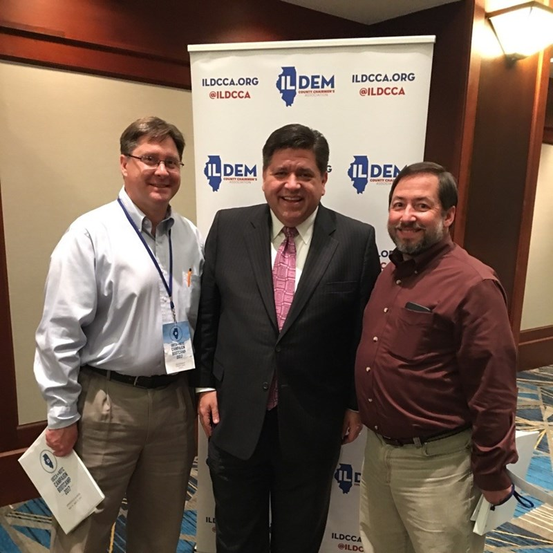 With State Senate Candidate Dave Simpson, and Gubernatorial Candidate J.B. Pritzker.