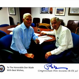 Dan Wyde and Congressman Pete Sessions