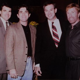Dan Wyde with Rick Perry and Chuck Norris