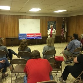 Speaking with voters at my second Mahomet Town Hall