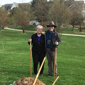 Here at Crestview Park with Urbana Rotary friends as we plant some trees as part of an international Rotary challenge for each member to plant a tree this year.