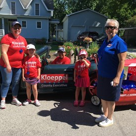 We had a great time closing out the month by distributing candy and information in the Tolono Fun Days Parade!