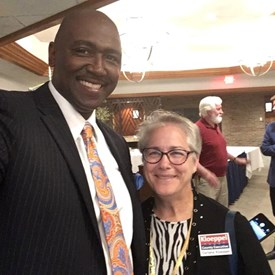 Connecting with Deon Thomas at the Urbana Rotary