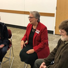 Enjoyed chatting with voters at the Champaign town hall!