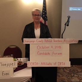 I enjoyed getting to speak to the Champaign County Retired Teachers Association!