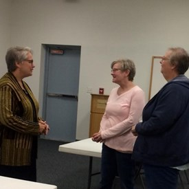 Had a good conversation with some Democrats starting to get involved with local politics this morning at my Town Hall in Rantoul! We need more like them!