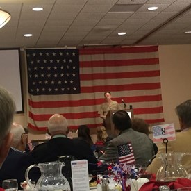 At the Rotary Veterans One-on-One lunch and so inspired by veterans that served from WWII and forward. Let a veteran know you are grateful for their service!