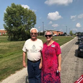It was great to meet up with other Kloeppel supporters in the St. Joseph parade!