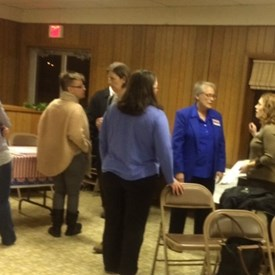 Had a great town hall in Mahomet supported by the Mahomet Democrats!