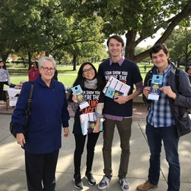 Spent some time at the U of I encouraging students and community members to vote at the Union - which is a universal voting center!