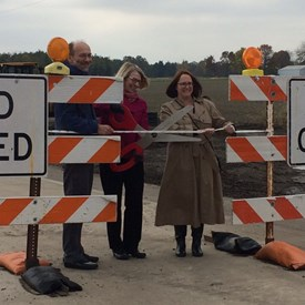 Enjoyed attending a ribbon cutting ceremony at the opening of Olympia Dr and Lincoln Ave. It's my goal to work to develop more ways all governments can cooperate for the County's economic growth!