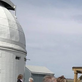 Enjoying the Ribbon Cutting Ceremony for the new observatory of the Champaign-Urbana Astronomical Society!
