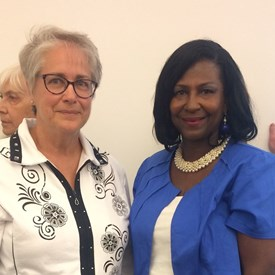 Darlene with former County Board Chairwoman Patricia Avery.
